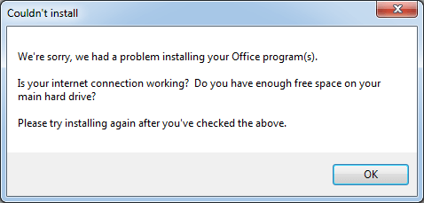couldnt install office image