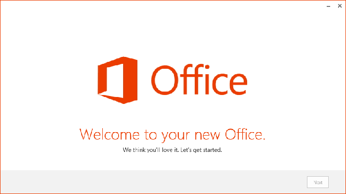 office 365 install complete image