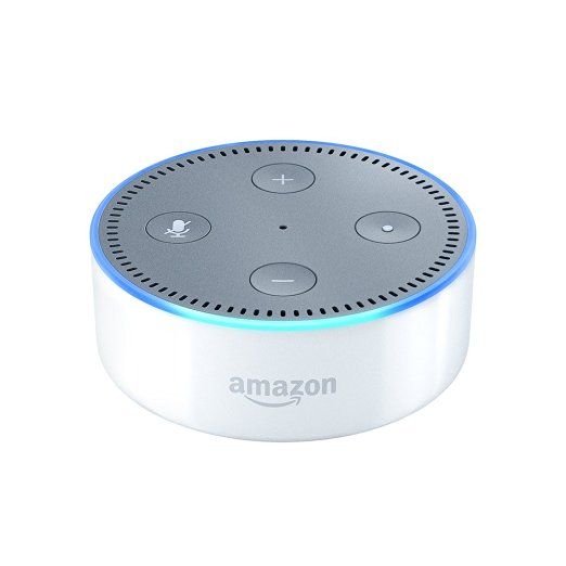 White Amazon Echo Dot